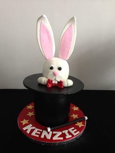 Magician's Hat and rabbit birthday cake