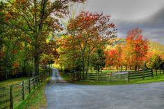 Country Roads in Autumn Taking a ride on the country roads in autumn in Bedford County, Virginia is like a slice of heaven…