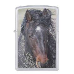 WILD HORSES OF ONAQUI MOUNTAIN DESERTS OF ZIPPO LIGHTER - horse animal horses riding freedom