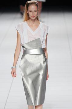 Metallic Origami Skirt