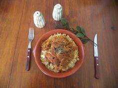 Fátima com Canela: Bifes de soja de cebolada
