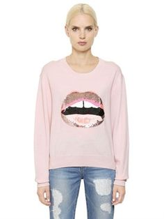 New Markus Lupfer Lip Embellished Wool Sweater fashion online. [$427]newtopfashion top<<