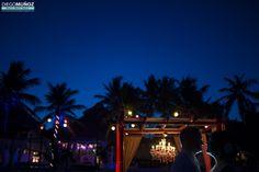 Wedding lighting in Akiin Beach Club in Tulum #tulumwedding