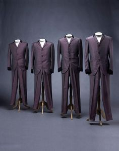 """Suits worn by the Beatles for their first album cover """"Please Please Me"""" Suits #beatles #memorabilia"""
