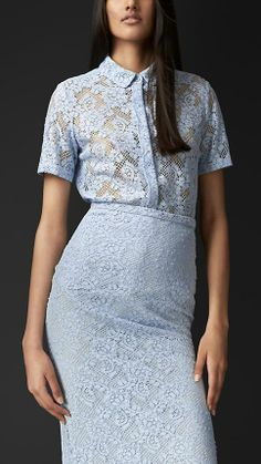Burberry Prorsum S/S14 English Lace Shirt