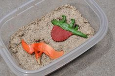 DIY Dino Dig Excavation Kits For Kids - sand and plaster one.