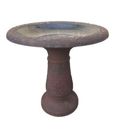 With a traditional design and durable construction, this birdbath serves as a stylish sanctuary for flying friends. Arcadia Garden, Traditional Design, Garden Products, Outdoor Decor, Red, Bath, Home Decor, Bathing, Decoration Home
