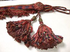 Stunning  Antique  Tassel Tie backs .Castle Clearance Unusual and rare, Hand Made.