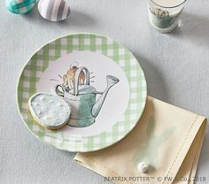 Meri Meri Melamine Childs Plate Snips & Snails & Puppy Dog Tails Cups, Dishes & Utensils Feeding