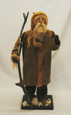 Arnette's Country Store Folk Art Old World Primitive Santa Claus Doll