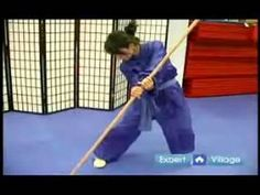 Advanced Wushu Techniques : The Wushu Technique for Pointing Staff - YouTube
