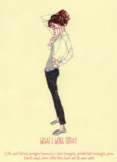what i wore today- fashion illustration