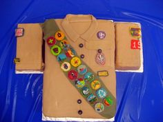 Replica of the Boy Scout uniform for an Eagle Scout Ceremony. Everything (including the badges) is edible.