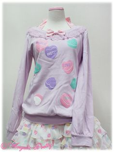 Sugar Hearts Cutsew by Angelic Pretty