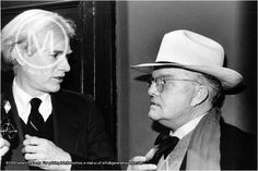 """warhol Truman Andy Warhol reached out to Capote after reading one of Capotes early novels. Warhol grew infatuated by a younger picture Capote had on the book jacket, upon contacting Trueman Andy was  shut down What the hell was Andy thinking? No, ones that desperate,, could you keep a straight face when you awoke to """"Hi Honey How'd you sleep?""""   I shudder thinking about it"""