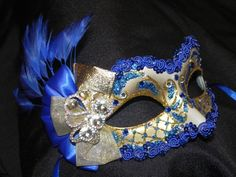 Royal Blue Masquerade Masks   Request a custom order and have something made just for you.