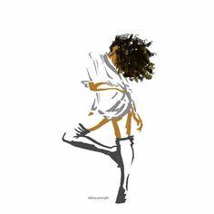 Black Girl Art, Black Women Art, Black Girls Rock, Black Girl Magic, Art Girl, African American Art, African Art, Arte Black, Natural Hair Art