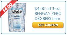 $4 off Bengay Zero Degrees