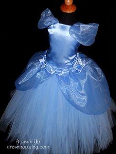 Niñas princesa Cenicienta vestido traje de la princesa por DressNup