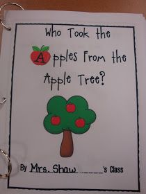 Learning Adventures: Who Took the Apples? I want to change it into a circle time game. Have cards upside down so we don't know who has the apple. Preschool Apple Activities, Preschool Apple Theme, Fall Preschool, Preschool Class, Kindergarten Writing, Preschool Themes, Preschool Apples, Kindergarten Apple Theme, Apple Theme Classroom