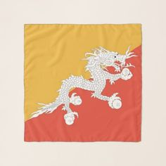 Square Scarf with flag of Bhutan - accessories accessory gift idea stylish unique custom