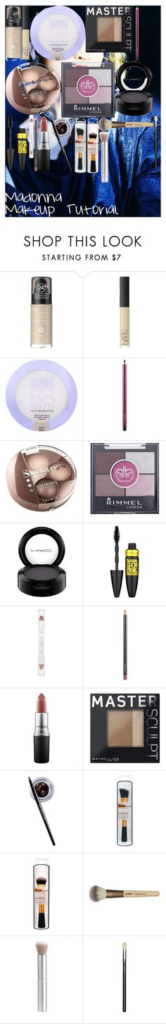 """Madonna Makeup Tutorial"" by oroartye-1 on Polyvore featuring beauty, Revlon, NARS Cosmetics, L'Oréal Paris, MAC Cosmetics, Bourjois, Rimmel, Maybelline, shu uemura and rms beauty"