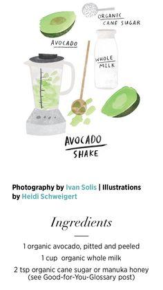 Makeup products that kourtney kardashian uses Avocado Shake, Avocado Smoothie, Juice Smoothie, Smoothie Drinks, Healthy Smoothies, Healthy Drinks, Get Healthy, Healthy Snacks, Healthy Eating