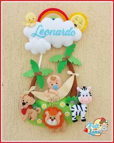 Baby Crafts, Felt Crafts, Diy And Crafts, Crafts For Kids, Felt Name Banner, Name Banners, Baby Room Design, Baby Room Decor, Garland Nursery