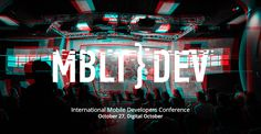 Keynote: The Reality Side of AR, MBLTdev, Moscow