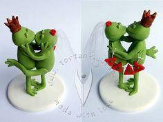 Frosch Brautpaar von www.tortenfiguren.at - Frog Weddingcake Topper