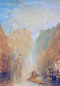 On the Upper Rhine. Joseph Mallord William Turner.
