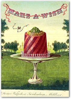 Cafe Cartolina: Vintage ephemera - from the Café archives Vintage Ephemera, Vintage Cards, Vintage Postcards, Cupcake Torte, Cupcakes, Ribbon Cards, Diy Ribbon, Birthday Greetings, Birthday Wishes
