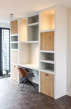 Cupboard wall - workplace in the living room Office Nook, Bedroom Office, Bedroom Decor, Living Tv, Home Living Room, Home Upgrades, Room Inspiration, Interior Inspiration, Home Room Design