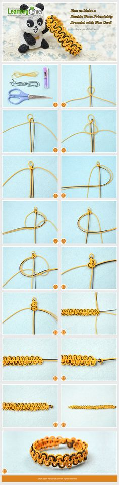 How to Make a Double Wave Friendship Bracelet with Wax Cord