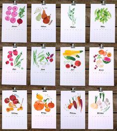 2013 seasonal harvest calendar by redcruiser on Etsy