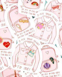 Pin It!DIY Conversation Heart Pillows On Brit CoMwah! Pin Card, Kawaii Crafts, Valentine's Day Printables, Diy Manicure, Cool Pins, Packaging, Pin And Patches, Valentine Day Crafts, Diy Pillows