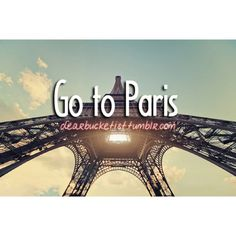 27. Go to Paris