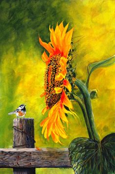 Sunflower painting idea, so pretty! Sunflowers make me HAPPY!