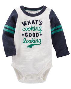 Baby Boy Flocked Varsity Bodysuit from OshKosh B'gosh. Shop clothing &…
