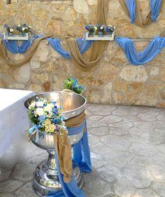 Baptism Candle, Baptism Favors, Baptism Party, Boy Baptism, Christening, Baptism Decorations, Altar, Flower Arrangements, Diy And Crafts