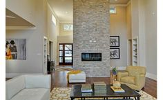 A fireplace that makes a statement