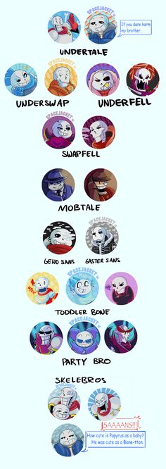 Undertale :: UnderTaleAU:: BUTTON SETS 2!!! by SpaceJacket