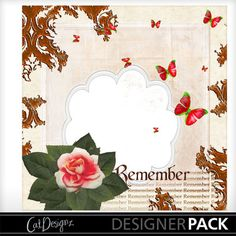 Digital Scrapbooking Kits | Marble Quickpage-(CatDes) | Decorative, Love, Memories | MyMemories