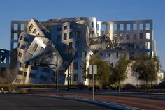 The Frank Gehry-designed Cleveland Lou Ruvo Center for Brain Health in downtown is seen on December 25, 2011 in Las Vegas, Nevada.