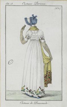 1804-1805 Costume de Promenade. An 13, Costume Parisien (651)