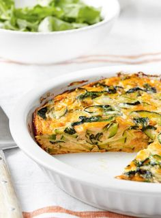 Frittata with Green Vegetables and Cheddar Spinach Frittata, Frittata Recipes, Broccoli Quiche, Vegetable Recipes, Meat Recipes, Healthy Recipes, Free Recipes, Omelette Legume, New Pressure Cooker