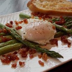Roast Asparagus With Prosciutto And Poached Egg Recipe on Yummly. @yummly #recipe