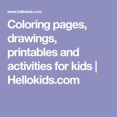 Coloring pages, draw