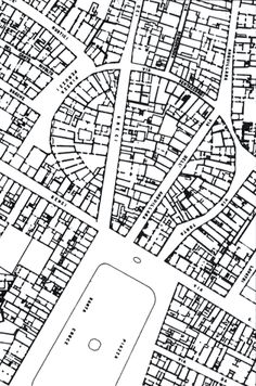 Plan of the Santa Croce district, Florence