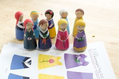 Plenty of Paprika: Disney Princesses Printable Peg Clothes {FREE printable} would be fun for block play and for a castles theme